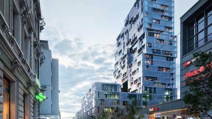 Das «Meret Oppenheim Hochhaus» soll bis 2018 fertiggestellt sein.