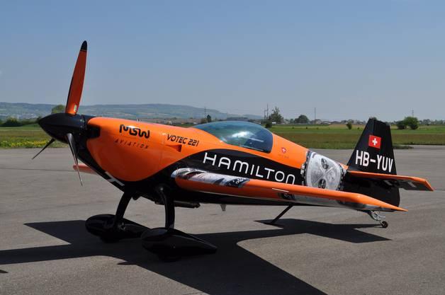 Das Schweizer Hochleistungs-Kunstflugzeug Votec 221 soll im Jahr 2017 in die Flugtestphase gehen. Das «Pièce de résistance» wird die Batterie sein.zvg