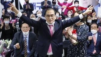 Flüchtete vor dem Kim-Regime, jetzt zieht er ins Parlament in Seoul ein: der Nordkoreaner Thae Yong Ho.