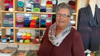 Anna Luterbacher führt seit 40 Jahren die «Handarbeitsstube Lohn».