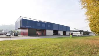 Architektonisch gelungen: Werkhof für den Strassenunterhaltskreis am Landis-Kreisel in Lenzburg. (Bild: Husistein & Partner)