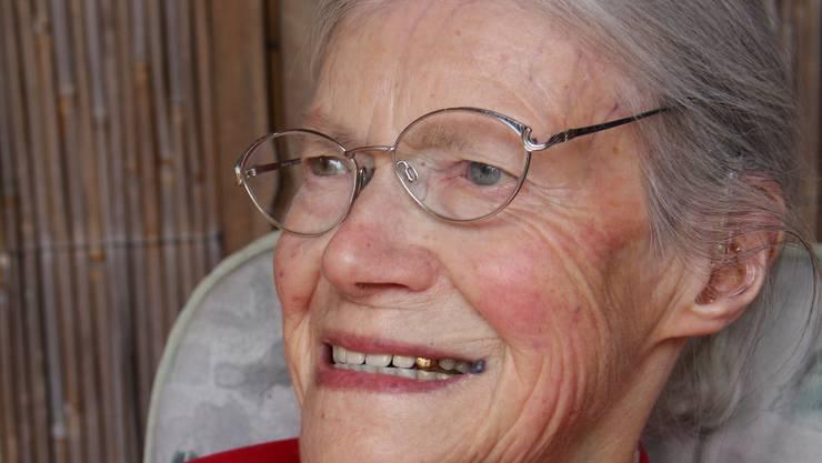 Margrit Ruckstuhl führt ihren Haushalt mithilfe der Spitex allein.  HHE