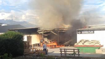 Das Feuer in Granges VS richtete einen hohen Sachschaden an.