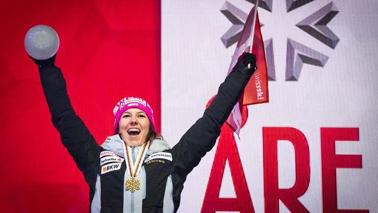 Wendy Holdener ist die Siegerin der Kombination an der WM in Schweden.