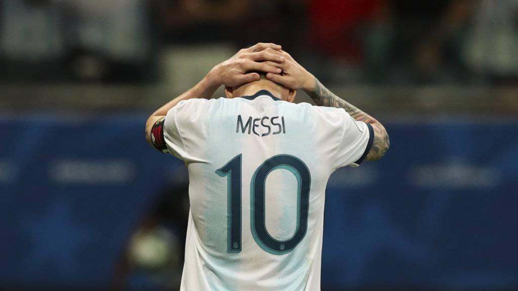 Lionel Messi steht mit Argentinien an der Copa America mit dem Rücken zur Wand