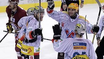 Die Bieler feiern ihren Sieg in Genf