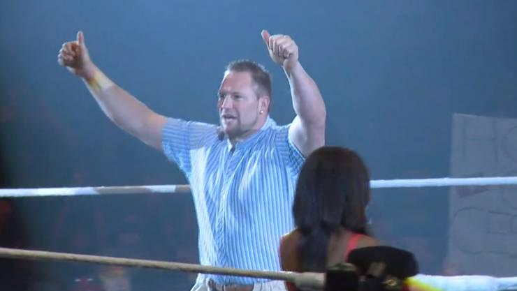 Eine Runde im Ring - mehr lag für Adi Laimbacher nicht drin. Ob die Amis Angst um ihre Stars hatten?
