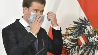 Österreichs Kanzler Sebastian Kurz verschärft die Coronamassnahmen; Im Dezember gibt es Massentests.