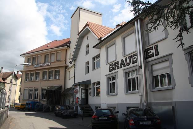 Die Brauerei wird  vor allem im Keller und Parterre des braunen Gebäudeteils erweitert