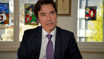 Stadtpräsident François Scheidegger hat sich in seinem Büro im Hotel de ville eingerichtet und im Amt Fuss gefasst.