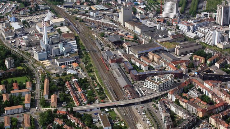 Eines der aktuellen Entwicklungsgebiete der Stadt befindet sich rund um den Bahnhof St. Johann mit dem Lysbüchel-Areal.
