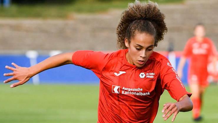 Mit den FC Aarau Frauen will die Murianerin diese Saison in die NLA aufsteigen.