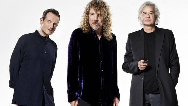 Led Zeppelin werden geehrt: John Paul Jones, Robert Plant and Jimmy Page (v.l.n.r.)