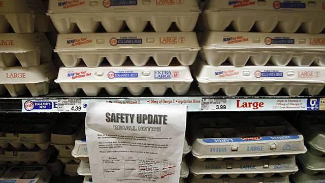 In den USA wird vor Eiern gewarnt, die mit Salmonellen kontaminiert sein könnten
