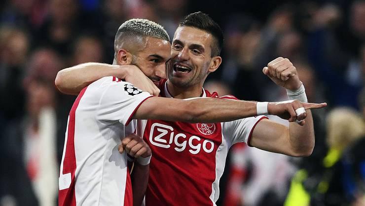 Hakim Ziyech (links) war vor der Saison unbekannt. Jetzt ist er 40 Millionen wert.