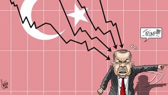 Erdogan weiss, wer an der Lira-Krise Schuld ist...