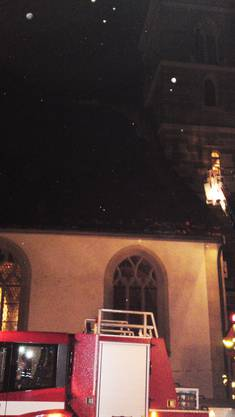 Die Zofinger Stadtkirche verlor durch das heftige Gewitter Teile des Daches