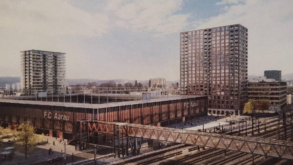Stadtrat Aarau peilt Baustart des FC Aarau Stadions für 2021 an