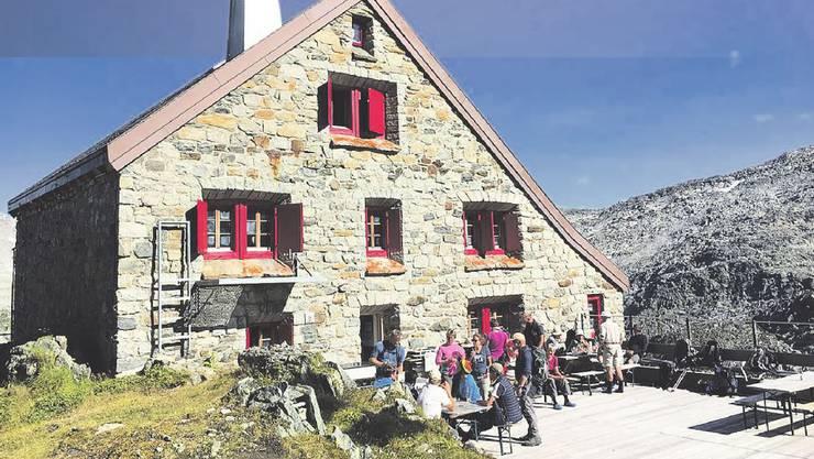 Postkartenidylle: Die Rotondo-Hütte im Kanton Uri gehört dem SAC Lägern. Für künftige Arbeiten kann die Sektion auf Zurzibieter Unterstützung zählen.