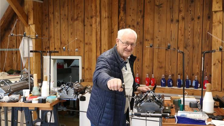 Ewald Kalt, Mitglied des Vereins Kulturwerk-Stadt, freut sich auf die Eröffnung der neuen Strickstube.