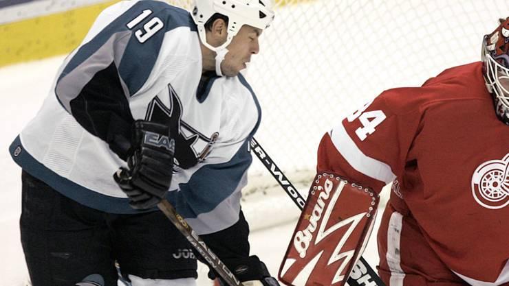 Deutschlands Rekord-NHL-Spieler Marco Sturm, hier im Dress der San Jose Sharks, wird neuer Bundestrainer