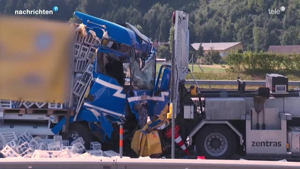 Unfall Autobahn zwischen Dagmersellen und Reiden