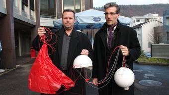 Bieten seit Oktober Bestattungen in der Atmosphäre an: Simon Gravschitz (links) und Sacha Belfiglio.