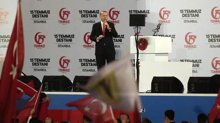 Erdogan bei seinem Auftritt.