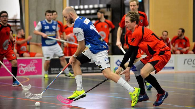 Der Deitinger Kevin Steffen setzt sich beim wichtigen Sieg im Playoff-Kampf gegen das Team Aarau gut in Szene.