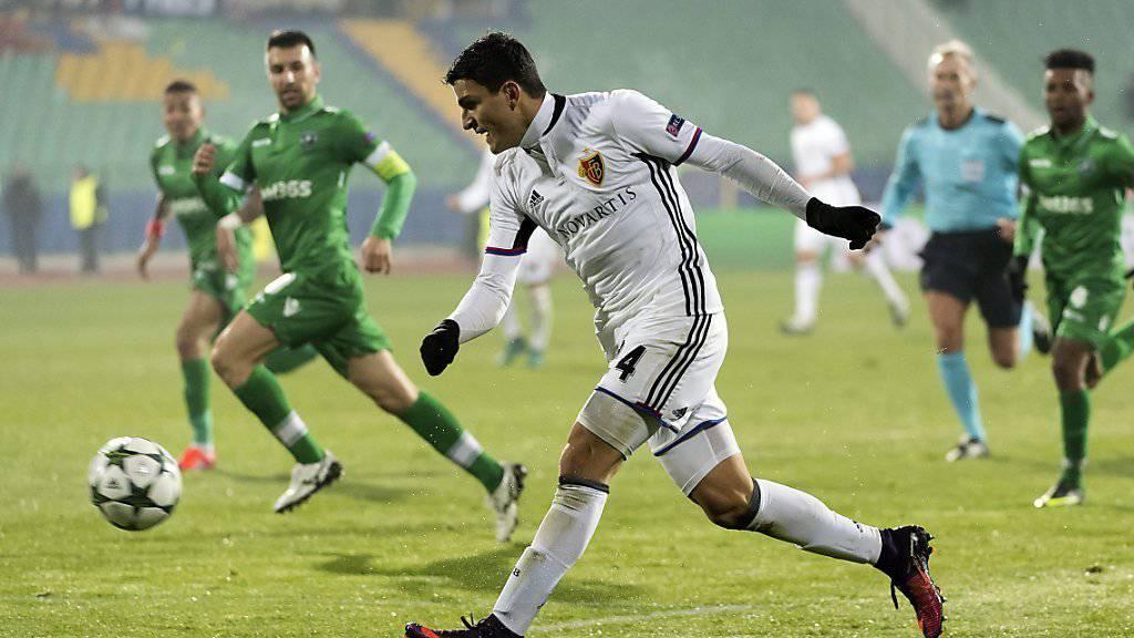 Mohamed Elyounoussi hatte in der 76. Minute den Siegtreffer für den FC Basel auf dem Fuss