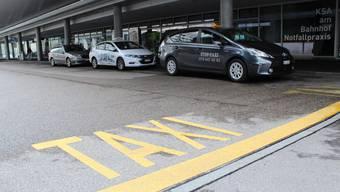 Die Taxi-Standplätze am Aarauer Bahnhof sind sehr beliebt.