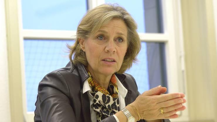 Patricia von Falkenstein (LDP) würde gerne als bürgerliche Kandidatin gegen die SP im Rennen um den Ständeratssitz antreten.