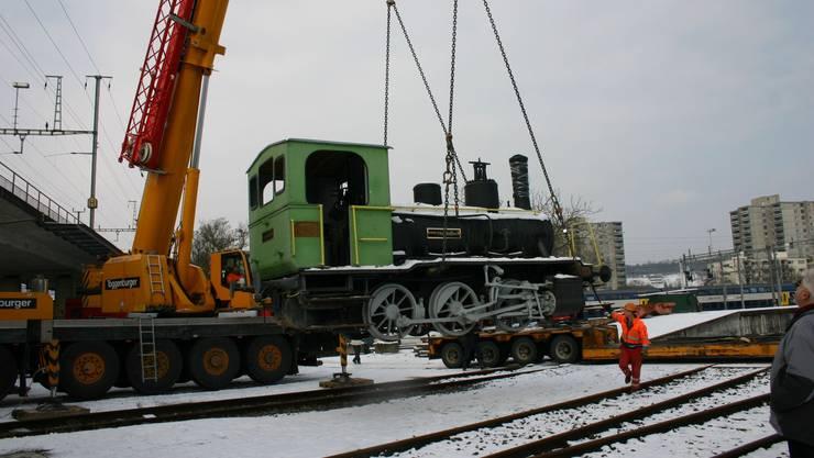 Das «Tigerli» vom Spielplatz Kleinhüningen hat im Bahnpark Brugg eine neue Heimat gefunden.