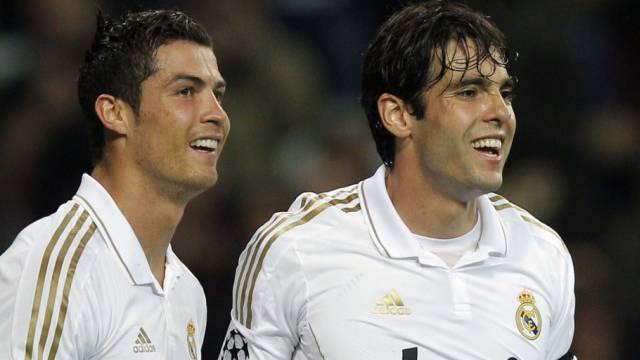 Reals Torschützen Cristiano Ronaldo und Kaka.