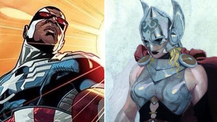 Captain America wird schwar, Donnergot Thor zur Frau.