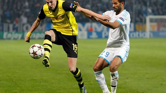 Kevin Grosskreuz (l.) war der Held für Borussia Dortmund