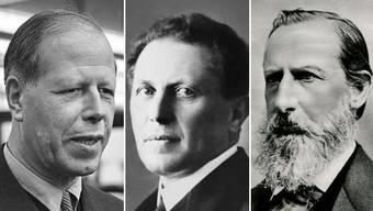 Ausländische Kräfte haben in der Schweizer Wirtschaft eine lange Tradition. Die Gründerväter von OC Oerlikon (Emil Bührle), ABB (Walter Boveri) und Nestlé (Henri Nestlé) wurden alle in Deutschland geboren (v. l.).