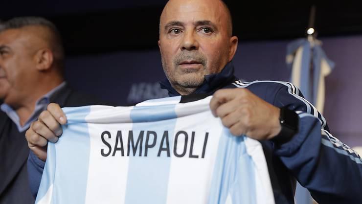 Jorge Sampaoli bei der offiziellen Vorstellung als neuer Nationaltrainer Argentiniens