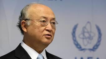 IAEA-Chef Yukiya Amano am Montag vor den Medien in Wien
