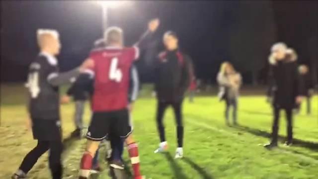 Die wüsten Szenen nach dem entscheidenden Penalty-Schiessen im Video