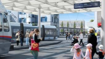 Die geplante Haltestelle beim Bahnhof Dietikon ist einer der grossen Konfliktherde im Zusammenhang mit der Limmattalbahn.
