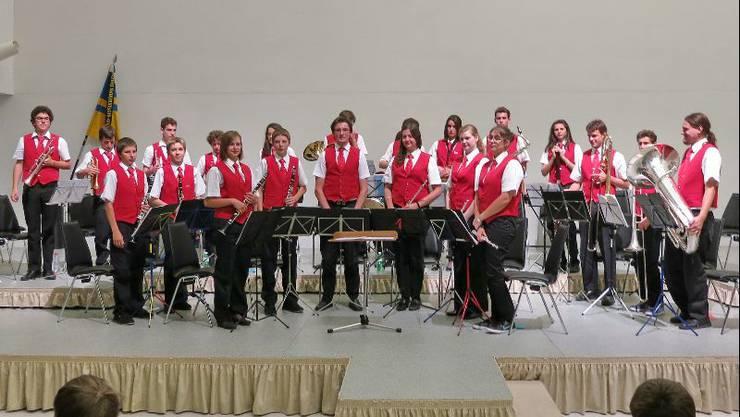 Die Jugendmusik Allegro Region Baden am Jahreskonzert der Jugendmusik Davos im Kongresszentrum Davos