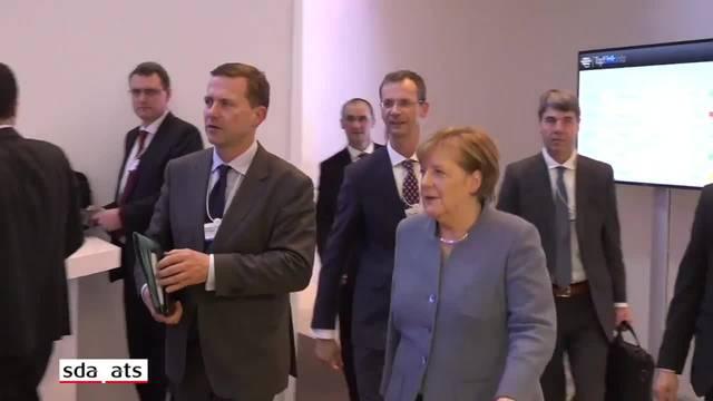 Deutsche Kanzlerin Merkel am WEF in Davos