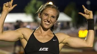 Nicole Büchler freut sich über den Schweizer Rekord (Archivaufnahme)