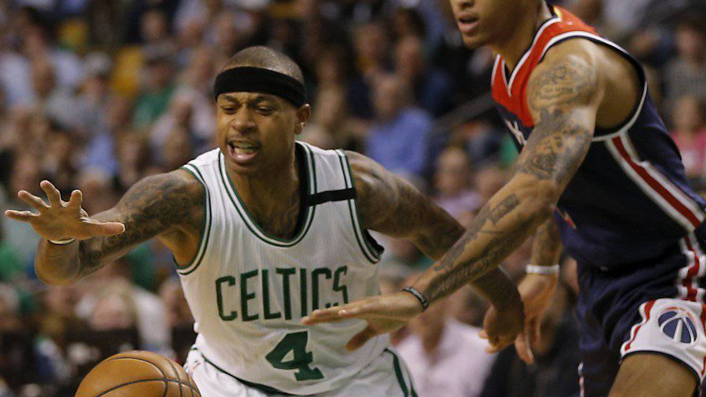 Bostons Guard Isaiah Thomas (links) erzielte gegen die Washington Wizards 53 Punkte