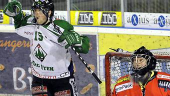 Oltens Remo Meister bezwang Sierres Keeper Dennis Saikkonen.