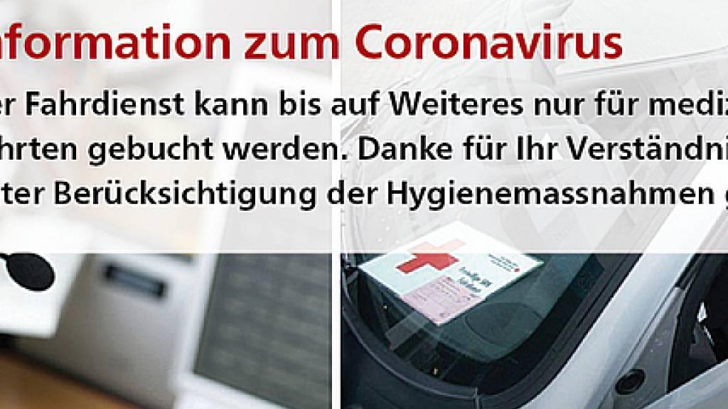 Beim Rotkreuz-Fahrdienst fehlen derzeit freiwillige Fahrer
