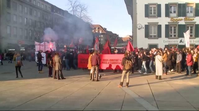 1500 demonstrieren in Bern gegen WEF