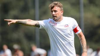 Trifft am Sonntag mit seinem neuen Klub auf seinen Ex-Klub FC Aarau: Daniel Gygax im schlichten Dress des FC Le Mont.keystone