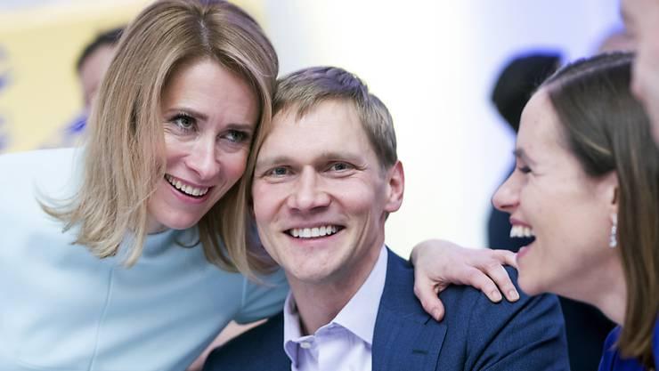 Hat nun beste Chancen, die erste Ministerpräsidentin Estlands zu werden: Kaja Kallas, Vorsitzende der konservativen Reformpartei.